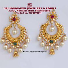 Gold Earrings Models, Gold Earrings For Women, Gold Jhumka Earrings, Gold Bridal Earrings, Jewelry Design Earrings, Gold Earrings Designs, Bridal Jewelry, Diamond Earrings, Gold Necklace