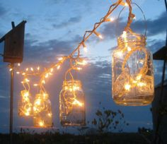 Mason jar porch lights