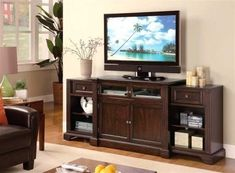 700711 Contemporary Tv Console in Dark by Coaster Home Furnishings. $745.74. This multi functional TV stand has two hidden slide out end units that add additional shelvs and storage space This two glass drawer fronts provide room for your audio and video components and the fluted accents and rich brown finish will make this a...