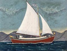 Κάτσας Πέτρος-Καράβι , π. 1965 Greece Painting, Painted Rocks Craft, Summer Painting, Painter Artist, Greek Art, Artist Gallery, Rock Crafts, Make Art, Sailing Ships
