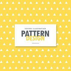 三角形は、黄色の背景上のパターンを整形します