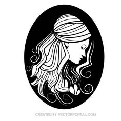 Young lady vector illustration.