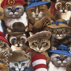 Timeless Treasures Cat Prints