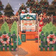 """🖤 beatrice on Instagram: """"🎄 welcome to my christmas tree lot. free box of homemade christmas cookies with every purchase! #ACPC #pocketcamp #animalcrossingpocketcamp"""" Christmas Tree Lots, Homemade Christmas, Christmas Cookies, Animal Crossing Pocket Camp, Free Boxes, Decorative Boxes, Gift Wrapping, Table Decorations, Animals"""