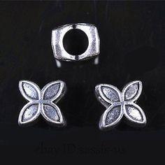 50-150pcs Bronze Charm Grand Trou Perles Métal Spacer Jewelry Making Findings 8 mm