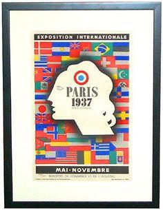 Paris 1937 International Exposition Art Deco Carlu Poster   Modernism