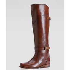 Frye Dorado Polished Leather Riding Boot ($498) ❤ liked on Polyvore