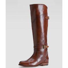 Frye Dorado Polished Leather Riding Boot ($498) ❤ liked on Polyvore