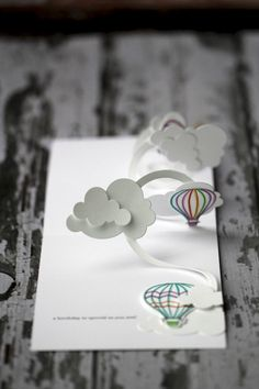 Wishing you...Pop-up Birthday card with hot air balloons. $2.99, via Etsy. Beautiful!
