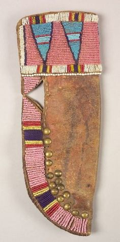 Northern Plains Beaded and Tacked Hide Knife Sheath | Sale Number 2319, Lot Number 154 | Skinner Auctioneers