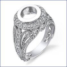 Gregorio 18K White Gold Diamond Engagement Ring (1.00 cttw, G-H Color, VS-SI Clarity)  Price : $5,000.00 http://www.blountjewels.com/Gregorio-White-Diamond-Engagement-Clarity/dp/B009RY7KIK