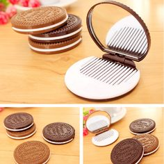 Make Up Mirror With Comb Creative Cookies Hand Mirrors Portable Plastic Make Up Mirror Comb Antique Portable Mirrors H78-in Makeup Mirrors from Health & Beauty on Aliexpress.com | Alibaba Group