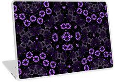 Lacy Purple Mandala Floral Circles   Design available for PC Laptop, MacBook Air, MacBook Pro, & MacBook Retina