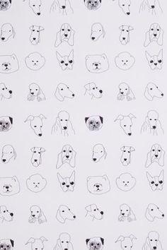Dog Wallpaper For Walls black walkies dog wallpaperarthouse 622007   boys' rooms