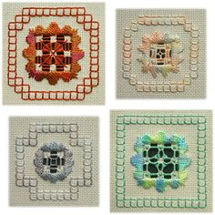 Hardanger embroidery by Mabel Figworthy's Fancies: Snippets Types Of Embroidery, Learn Embroidery, Hand Embroidery Designs, Ribbon Embroidery, Embroidery Patterns, Stitch Patterns, Hardanger Embroidery, Cross Stitch Embroidery, Satin Stitch
