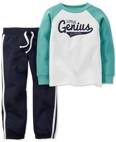 Carter's Baby Boys' 2-Piece Little Genius Shirt & Pants Set - Baby Boy (0-24 months) - Kids & Baby - Macy's