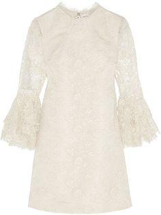 Pin for Later: Les Meilleures Robes de Mariée du Web  Saint Laurent mini-robe en dentelle guipure et faille de soie (3,490€)