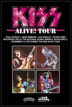 Tour stand-up display highlighting a show KISS played in Rockford Illinois at the National Guard Armory on November 15th, 1975. Description from etsy.com. I searched for this on bing.com/images