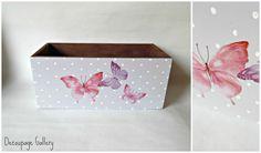Pudełko z motylkami - ozdobione metodą decoupage.  Więcej na mojej stronie na fb - Decoupage Gallery
