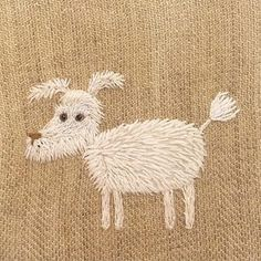 This embroidery is from Day 1 of