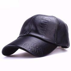 New Fashion High Quality Winter Leather Baseball Cap 5303f2de613d