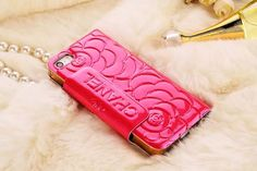 Chanel iPhone 6 Super Thin Rose Embossed Paten Leather Case Rose Red Free Shipping - Deluxeiphone6case.com