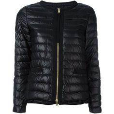 Moncler Quilted Down Jacket (€939) ❤ liked on Polyvore
