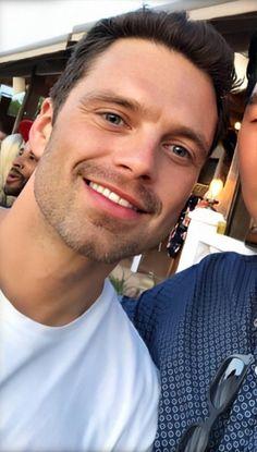 Sebastian Stan, Chris Evans, Bucky Barnes Aesthetic, Winter Soldier Bucky, Man Thing Marvel, Marvel Actors, Attractive People, Celebrity Babies, Celebrity Crush