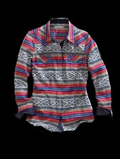 0e35ae833b4e3 Tin Haul® Women s Multi-Color Aztec Blanket Ombre Long Sleeve Snap Cowgirl  Shirt · Rodeo ShirtsCowgirl ShirtsWestern ...