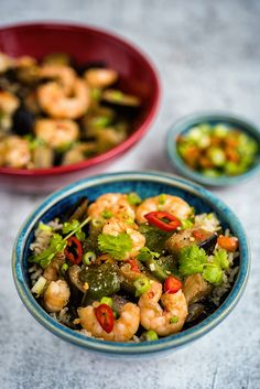 Chinese Eggplant Stir Fry with Prawns and Green Peppers - quick, easy and delicious!