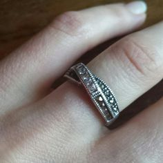 Judith Jack ring Judith Jack CZ Marcasiti. Channel set band sterling silver 925..not sure what size it is.. looks like size 6 judith jack Accessories