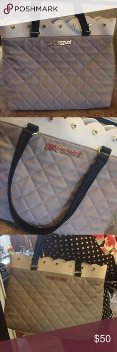 Betsey Johnson Scalloped Two Tone Beige Purse Bag I bought this bag and then someone gifted me with a Kate spade in the same colors so I no longer need it! I only carried it maybe 3 times. It's in like new condition! Betsey Johnson Bags Shoulder Bags