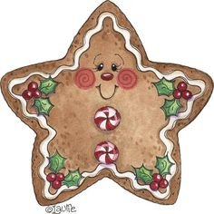 Free Christmas Decorative painting patterns View album on Yandex. Gingerbread Ornaments, Christmas Gingerbread, Noel Christmas, Christmas Images, Christmas Ornaments, Gingerbread Men, Ball Ornaments, Christmas Cookies, Christmas Projects