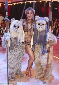 Princess Leia costume on Dancing with the Stars 2014