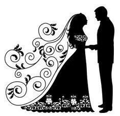 Свадебные силуэты фото #1
