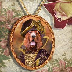 Ierse Setter hond sieraden broche handgemaakt door NobilityDogs