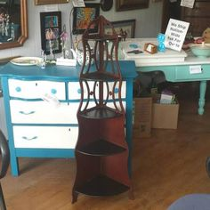 Refurbished corner shelf in black and wood for sale at Frugal Fortune, Lakewood, Ohio 44107. http://cleveland.craigslist.org/atd/5784009095.html
