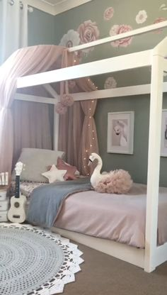 s room inspo Girl&;s room inspo Humsel Brumsel humselbrumsel Kinderzimmer featuring Spinkie Dreamy Canopy Pom Garlands Princess Swan Star Cushion and Hope […] girl room inspo Toddler Rooms, Toddler Bedding Girl, Toddler Princess Room, Toddler House Bed, House Beds For Kids, Kid Rooms, Kid Beds, Little Girl Rooms, Girl Kids Room