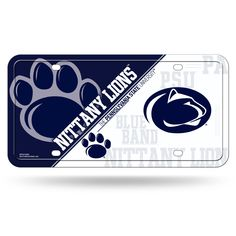 NCAA Penn State Nittany Lions Metal Auto Tag >>> Check this awesome product by going to the link at the image. (This is an affiliate link) #PennStateFootball