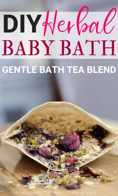 DIY Herbal Baby Bath (gentle bath tea mix for babies) Modern Homestead Mama . DIY Herbal Baby Bath (gentle bath tea mix for babies) Modern homestead mom Baby Baden, Spiritual Bath, Natural Sleep Remedies, Bath Recipes, Homemade Beauty Products, Baby Products, Tea Blends, Natural Skin Care, Natural Beauty
