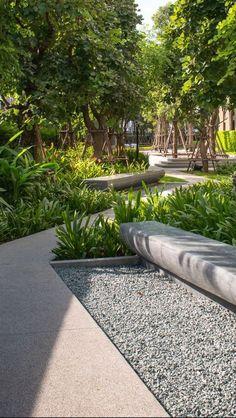 30 Most Amazing Landscape Design Ideas You Have To See - Garten Landschaftsgestaltung Modern Landscape Design, Landscape Architecture Design, Urban Architecture, Landscape Plans, Modern Landscaping, Urban Landscape, Front Yard Landscaping, Backyard Landscaping, Landscaping Ideas