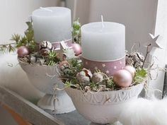 Image 0 – Spring decoration – # Spring decoration – Famous Last Words Christmas Candle Decorations, Christmas Arrangements, Christmas Candles, Diy Christmas Ornaments, Floral Arrangements, Gold Christmas, Spring Decoration, Diy 2019, Deco Floral