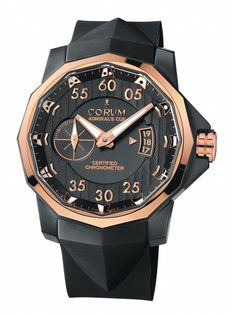 Corum Admiral's Cup Competition 48 Black & Gold at London Jewelers!