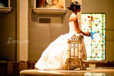 A picture of the quinceañera at the church <3 really pretty . I WILL NEEEEEED THIS.