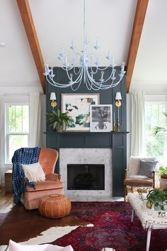 Layered eclectic living room #livingroom #boho #persian
