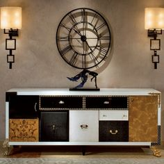 * Комод Patchwork для гостиной в стиле арт-деко фабрики Saint Babila * Sideboard Patchwork for living room in art-deco style from factory Saint Babila
