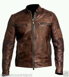 Men's Leather Jackets: How To Choose The One For You. A leather coat is a must for each guy's closet and is likewise an excellent method to express his individual design. Leather jackets never head out of styl Vintage Biker, Vintage Leather Jacket, Leather Men, Leather Jackets, Brown Leather, Blazers, Revival Clothing, Look Man, Men Style Tips
