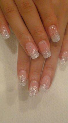 Glittery nails love it