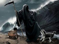 Horse Grim Reaper Tattoos Large Gallery Of Free Tattoo Designs Picture Pictures Grim Reaper Scythe, Grim Reaper Tattoo, Don't Fear The Reaper, Wwf Poster, Arte Obscura, Dog Beach, Angel Of Death, Creepy Dolls, The Grim