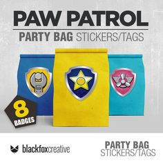 This item is unavailable I Love My Son, Paw Patrol Party, Loot Bags, Label Paper, Tent Cards, Party In A Box, Printed Bags, Printing Services, Badge